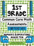 First Grade Common Core Math NBT Assessments, Practice She