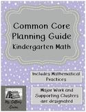 Kindergarten Common Core Math Planning Guide
