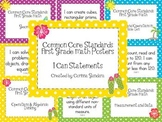 First Grade Common Core Math Standards Posters-Tropical