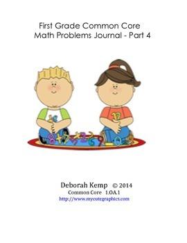 First Grade Math Word Problems Journal - Part 4 - Common C
