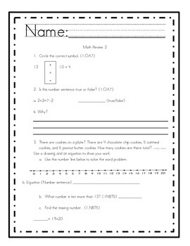 First Grade Common Core Math Review
