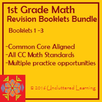 First Grade Common Core Math - Revision Booklets Bundle