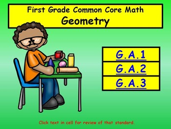 First Grade Common Core Math Set