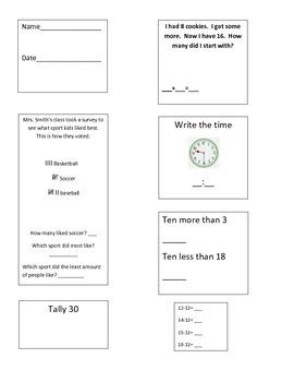 First Grade Common Core Math Skills