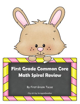 First Grade Common Core Math Spiral Review