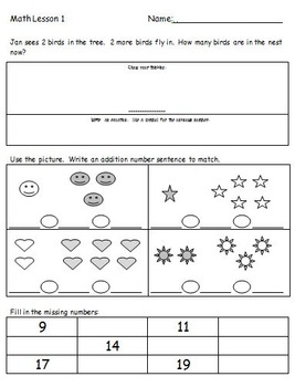 First Grade Common Core Math Spiral Worksheets and Homework (Set 1)