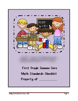 First Grade Common Core Math Standards Checklist