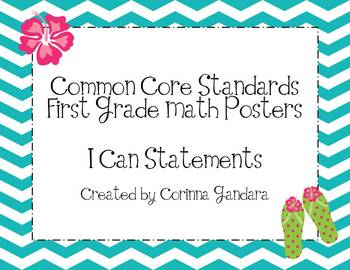 First Grade Common Core Math Standards Posters-Chevron