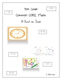 First Grade Common Core Math Time Unit