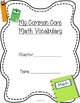 First Grade Common Core Math Vocabulary Cards with Picture