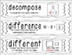 First Grade Common Core Math Vocabulary Word Cards - Black and White