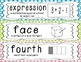 First Grade Common Core Math Vocabulary Word Cards - Multicolored Polka Dots