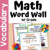 Math Word Wall, Math Vocabulary & Interactive Notebook Ins