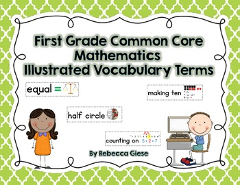 First Grade Common Core Math Word Wall