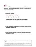 1.OA.1 Word Problem First Grade Common Core Math Worksheet