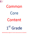 Complete First Grade Common Core Math Worksheet Package AL