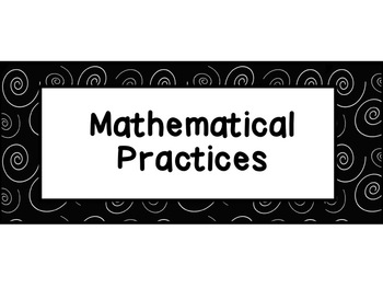 Common Core Mathematical Practices Posters FREEBIE!!!