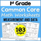 First Grade Common Core Measurement and Data Worksheets BUNDLE