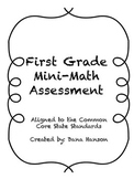 First Grade Common Core Mini Assessment