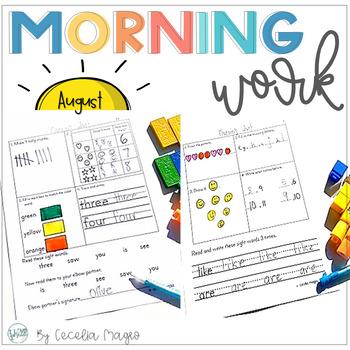 Spiraling Morning Work #1 August