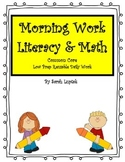 First Grade Common Core Morning Work Math & Literacy Reusa