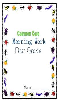 First Grade Common Core Morning Work for First Quarter