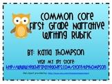 First Grade Common Core Narrative Writing Rubric