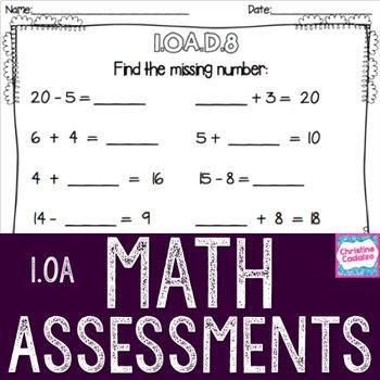 Math Assessments - First Grade Operations