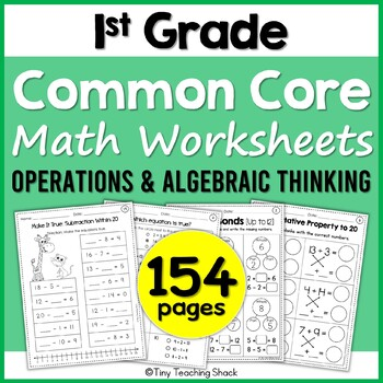 First Grade Common Core OA Worksheets GROWING BUNDLE