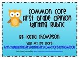 First Grade Common Core Opinion Writing Rubric