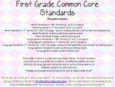 First Grade Common Core Pack