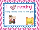 First Grade Common Core Reader Response Graphic Organizers