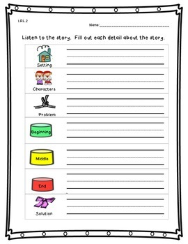 First Grade Common Core Reading Assessments