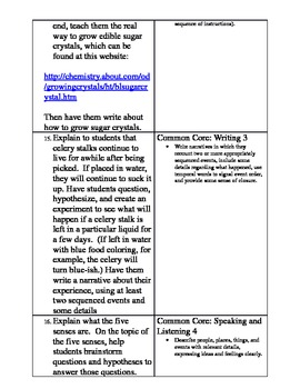 First Grade Common Core Science Lessons and Experiments (Full Year)