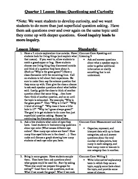 First Grade Common Core Science Lessons and Experiments (Quarter 1)