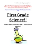 First Grade Common Core Science Lessons and Experiments (8 Lesson Sample)
