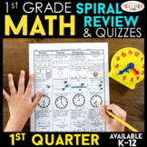 1st Grade Math Review | Homework or Morning Work | 1st Quarter