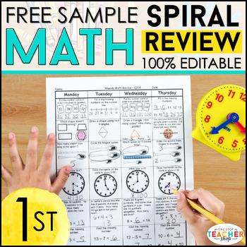 1st Grade Math Spiral Review   1st Grade Math Homework 1st Grade Morning Work
