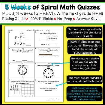 1st Grade Math Homework 1st Grade Morning Work 1st Grade Math Spiral Review