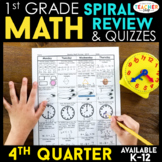 1st Grade Math Review | Homework or Morning Work | 4th Quarter