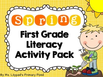 picture regarding Printable Literacy Centers First Grade named Spring Literacy Facilities and Routines for Initially Quality