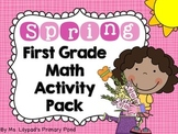 Spring Math Centers & Activities for First Grade