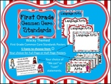First Grade Common Core Standards Posters - Wacky Themed