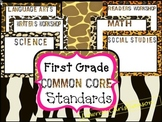 First Grade Common Core Standards: ANIMAL PRINT