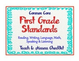 "1st Grade Common Core Standards - ELA & Math ""Teach & Asse"