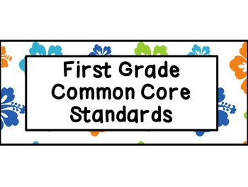 First Grade Common Core Standards ELA Posters: Beach Theme