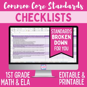 Common Core Checklist - First Grade