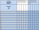 First Grade Common Core Standards Gradebook