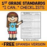 First Grade Common Core Standards I Can Checklists 1