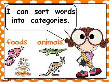 First Grade Common Core Standards LANGUAGE ARTS Posters